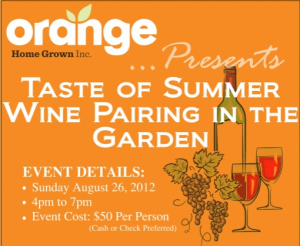 Screen Shot 2012 08 09 at 10.21.46 AM 300x246 Taste of Summer Wine Pairing in the Garden Fundraiser