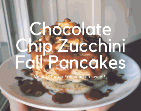 Chocolate Chip Zucchini Pancakes for Fall Brunch (VG) (GF)