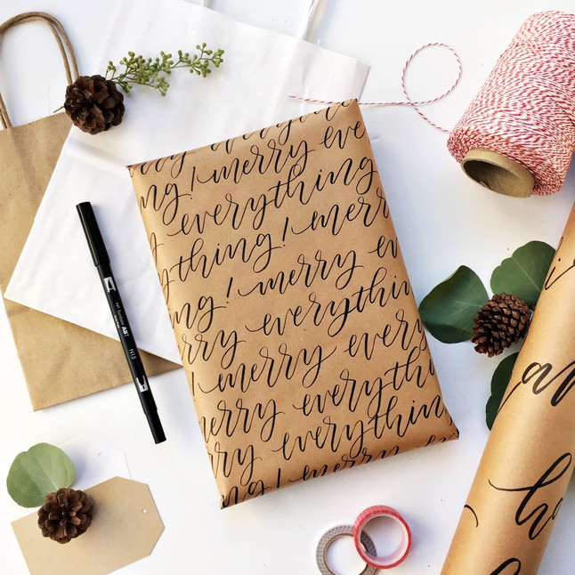 Diy Calligraphy Wrapping Paper Workshop At The Potting Shed