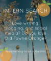 Intern Search at I Heart Old Towne Orange (Spring 2019)