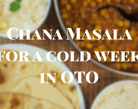 Chana Masala for a Cold Old Towne Week