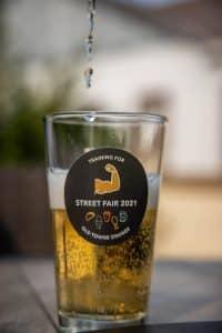 Street Fair Pint Glass, Old Towne Orange