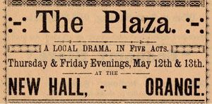 """""""The Play"""" ticket from 1887"""