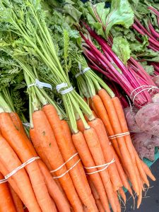 Carrots and Beets at the Home Grown Farmers and Artisans Market