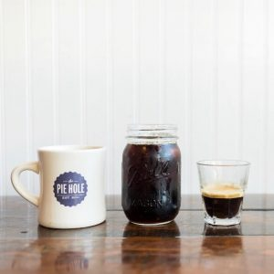 Three coffees from The Pie Hole