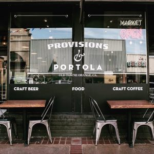 Exterior of Provisions Deli & Bottle Shop and Portola Roasters