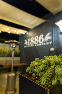 Back patio of 1886 Brewing Company