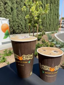 Two lattes from Philz Coffee
