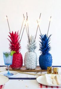 4th of July-themed pineapples