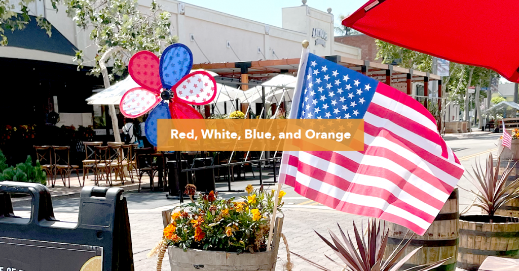 American Flag and Decor in Old Towne Orange