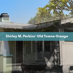 Then and Now of Shirley Perkins' Childhood Home