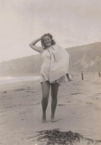 Perkins at the beach, undated